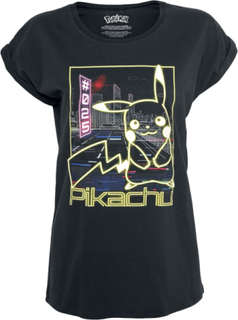 Pokémon - Pikachu - Neon -T-skjorte - svart