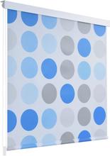 vidaXL Rullgardin för dusch 80x240 cm cirkel