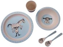 Pippi Bamboo Tableware, 5 pcs set, Blue