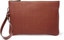 Pelle Tessuta Leather Pouch - Tan