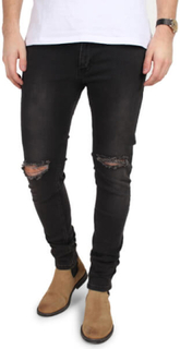 Just Junkies Jeans Max Single Grey Holes