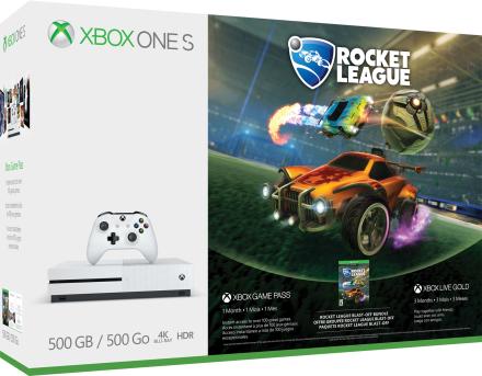 Konsola Xbox One S 500 GB — odlotowy pakiet gry Rocket League