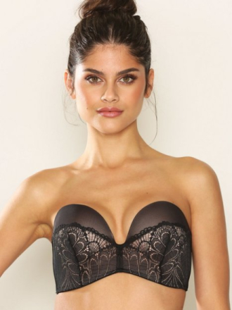 Wonderbra Glamour Perfect Strapless Bra Svart
