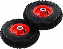 vidaXL Hjul till säckkärra 2 st gummi 3.00-4 (260x85)