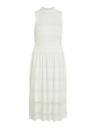 VILA Lace Sleeveless Midi Dress Women White