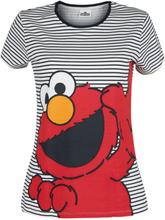 Sesam Stasjon - Elmo -T-skjorte - svart, hvit