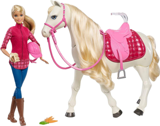 Mattel Barbie Dream hest FRV36 - Barbie Dreamhorse dukker FRV36