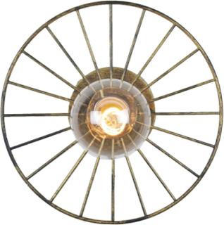 Globen Lighting Wheel Vägglampa/Plafond Antikmässing 28 cm