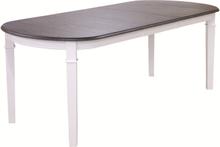 Ramnäs ovalt matbord 160-200 cm - Vit/brunoljad ek