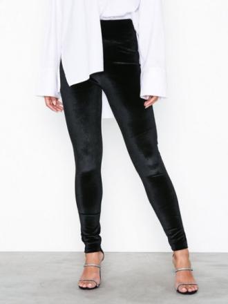 NLY Trend Velvet Leggings Svart