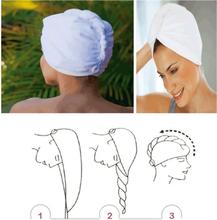 Turban Twister håndkle for hår - Hvit farge