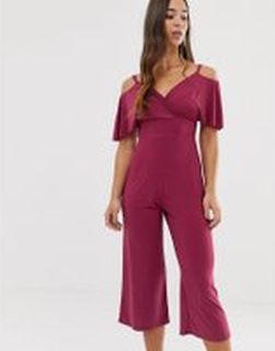 Love cross over jumpsuit - Berry jumpsuit