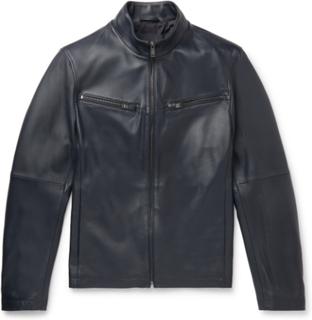 Hugo Boss - Nocklin Leather Jacket - Blue - L,Hugo Boss - Nocklin Leather Jacket - Blue - XXXL,Hugo Boss - Nocklin Leather Jacket - Blue - XL,Hugo Boss - Nocklin Leather Jacket - Blue - XXL,Hugo Boss - Nocklin Leather Jacket - Blue - S,Hugo Boss - Nocklin