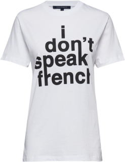 I Don'T Speak French Sslv Tee T-shirt Top Hvid French Connection