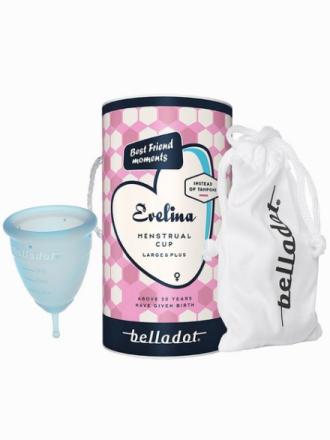Intimpleie - Blå Belladot Evelina Menstrual Cup Large&Plus