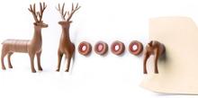Hjort i mange skiver (6 dele) - køleskabsmagneter