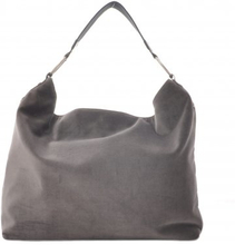 Ceannis - Väska Pounch Bag Charcoal Velvet Leather Collection f5a8b73c6b421