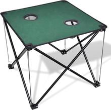 vidaXL Sammenfoldeligt campingbord mørkegrøn