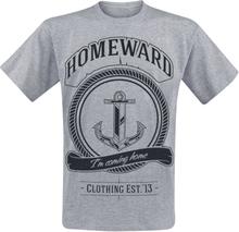 Homeward Clothing - Anchor -T-skjorte - lynggrå