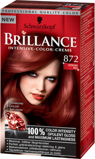 Kjøp Schwarzkopf Brillance Intensive Color-Creme, 872 Intensive Red, 872 Intense Red Schwarzkopf Hårfarge Fri frakt
