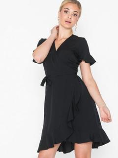 Vero Moda Vmhenna 2/4 Wrap Frill Dress Exp