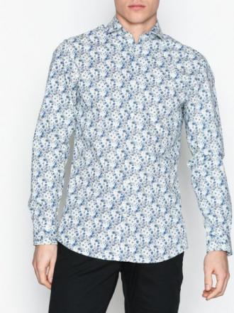 Selected Homme Shdonesel-Rio Shirt Ls Aop Kauluspaidat Valkoinen