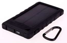 GreyLime Powerbank med solcelle 8000mAh Batteri 1,2W solcelle Sort