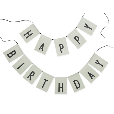 Design LettersHappy Birthday flags