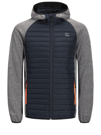 JACK & JONES Multi Quilted Jacket Men Grey