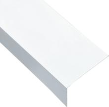 vidaXL Vinkelstång 90° L-profil 5 st aluminium vit 170cm 60x40 mm