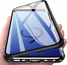 INF Magneettinen kuori Samsung Galaxy S9:lle näytönsuojalla - musta