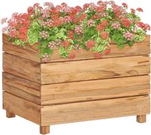 vidaXL Blomlåda 50x40x38 cm återvunnet trä och stål