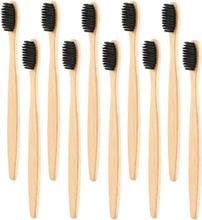 eStore 10x Bambu Hammasharja - Musta