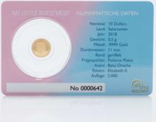 Goldmünze Gold Coin Card Drache 2018