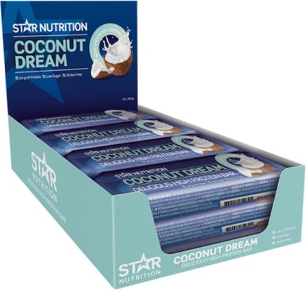 12 x Star Nutrition Protein Bar, 55g, Choco Brownie