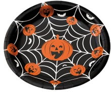 Halloween papperstallrik 8-pack