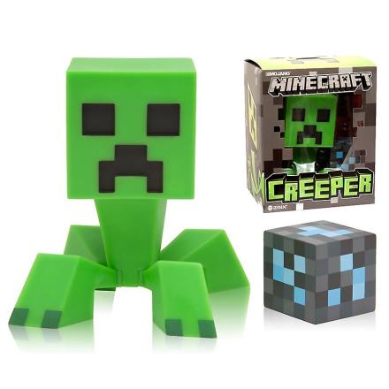 Minecraft Creeper Vinyl figur med Diamantblock - Fruugo