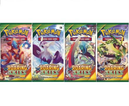 Pokemon XY brølende Skies Booster pakke 4-pack - Fruugo