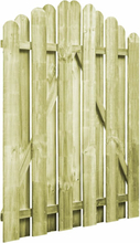 vidaXL Trädgårdsgrind impregnerad furu 100x125 cm