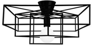 Globen Lighting Plafond Cube Mattsvart