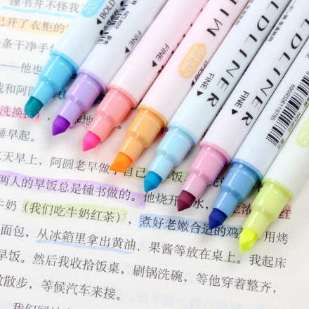 12 Pcs/set Japanese Mildliner Pens Milkliner Double Headed Fluorescent Pen Cute Art Highlighter Drawing Mark Pen Stationery