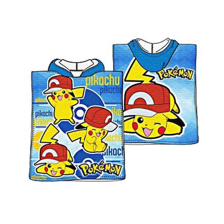 Pokémon Pokemon gå Pikachu Badponcho badehåndklæde Poncho 100 * 50 cm - Fruugo
