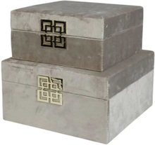Stjernsund Smyckeskrin Box Sammet ljusbeige 2-set