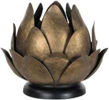 FINTINNE Ljushållare Lykta Näckros Brun metall 22 cm