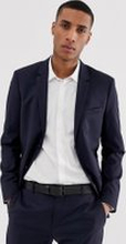 Calvin Klein - Kostymjacka i smal passform-Blå