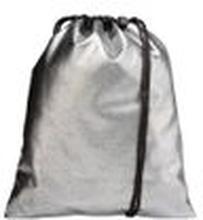 Mi-Pac Unisex Turnbeutel Pebbled Gym Bag silber/ schwarz