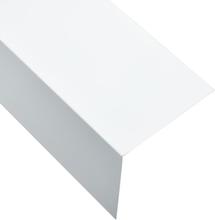 vidaXL Vinkelstång 90° L-profil 5 st aluminium vit 170cm 100x100 mm
