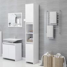 Badeværelsesskab 30x30x183,5 cm spånplade hvid