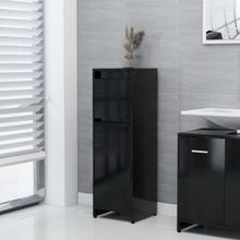 Badeværelsesskab 30x30x95 cm spånplade sort