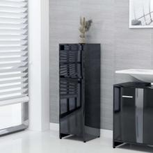 Badeværelsesskab 30x30x95 cm spånplade sort højglans
